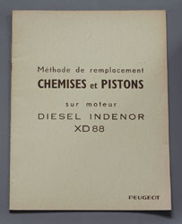 Peugeot Diesel Indenor XD 88 Methode de Remplacement Chemises et Pistons - OCR.pdf