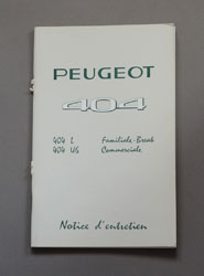 Peugeot 404 Instructieboekje L Familiale-Break, U6 Commerciale (Franstalig) - OCR.pdf