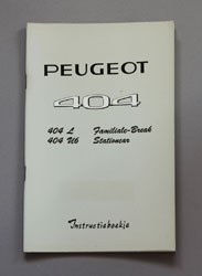 Peugeot 404 Instructieboekje L Familiale-Break, U6 Stationcar - OCR.pdf