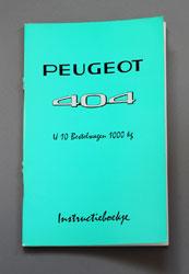 Peugeot 404 Instruktieboekje U10 Bestelwagen 1000 kg - OCR.pdf