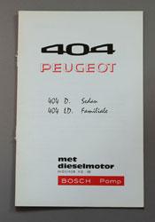 Peugeot 404 Instructieboekje D Sedan, LD Familiale met Dieselmotor Indenor XD-88 met Bosch Pomp - OCR.pdf