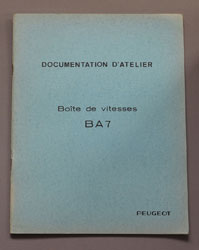 Peugeot Documentation D'Atelier Boite de Vitesses BA 7 - OCR.pdf
